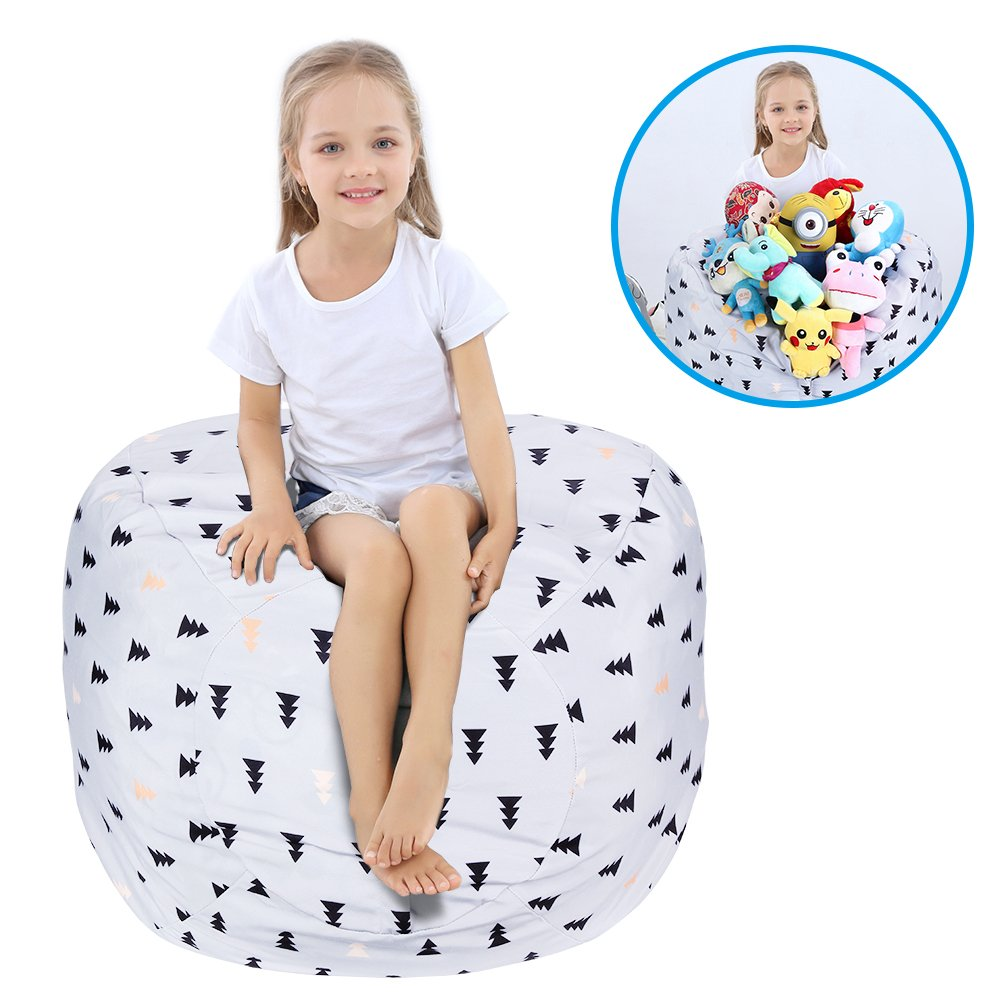 Stuffed Animal Bean Bag Storage Chair
