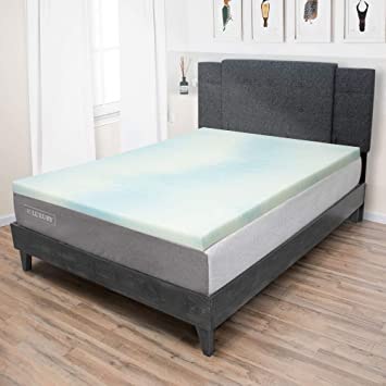 100% authentic ab84e 71be5 eLuxurySupply 1.5 Inch Memory Foam Mattress Topper - Temperature Regulating  Mattress Pad - 2 lb Density for High Support and High Response - ...