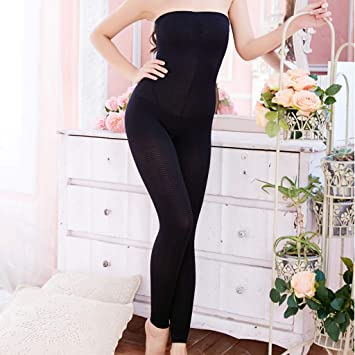 b58aedac89 Amazon.com  Weite Women s Sculpting Sleep Leg Shaper Stripy Pants ...
