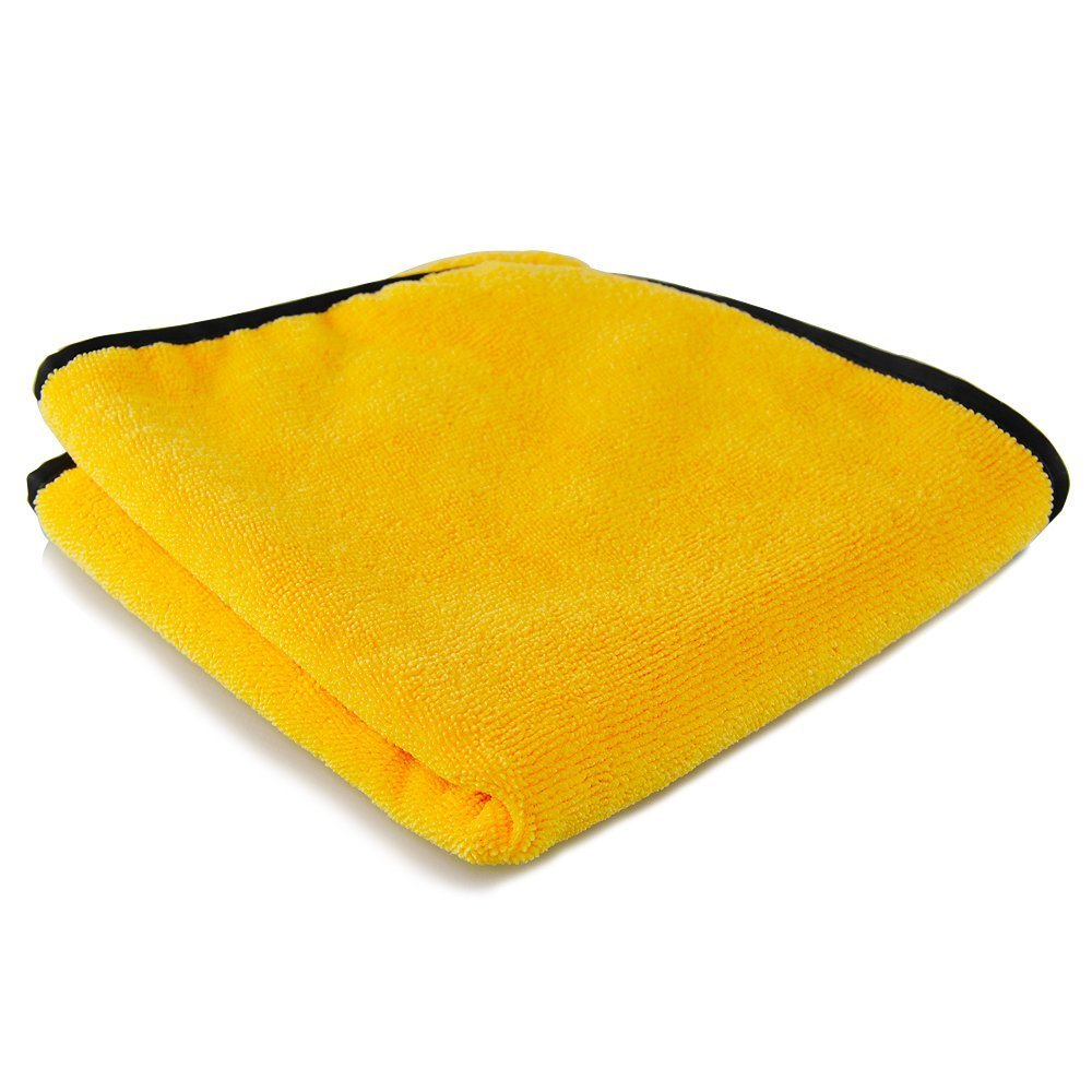 Professional Grade Premium Microfiber Towels, Gold Plush TAGLESS (16 in. x 16 in.) (Pack of 12)