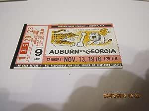 1976 Auburn vs Georgia Football Ticket Stub at Amazon's ...