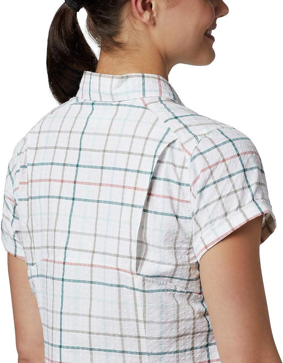 Columbia Womens Silver Ridge Novelty Short Sleeve Shirt Moisture Wicking