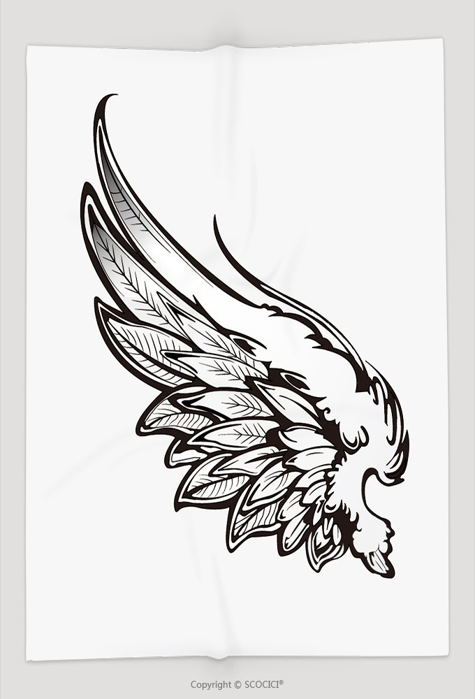 Custom Throw Blanket Hand Drawn Angel Wings 318810296 and Comfortable by vanfan