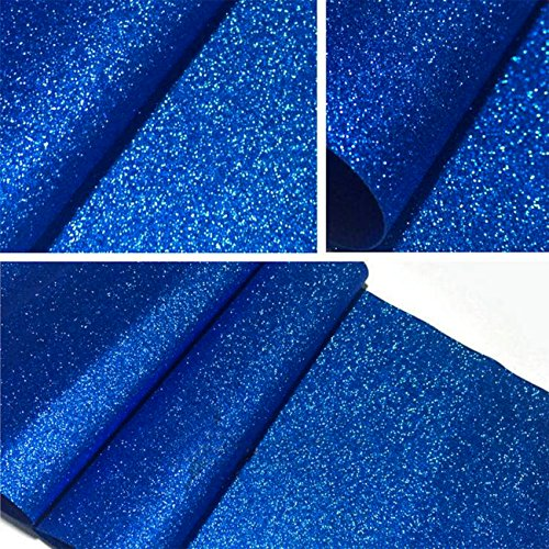 Royal Blue Wallpaper - Self Adhesive Glitter Wallpaper For Walls Peel and Stick Roll Decor Craft Fabric (Royal Blue) 17.7