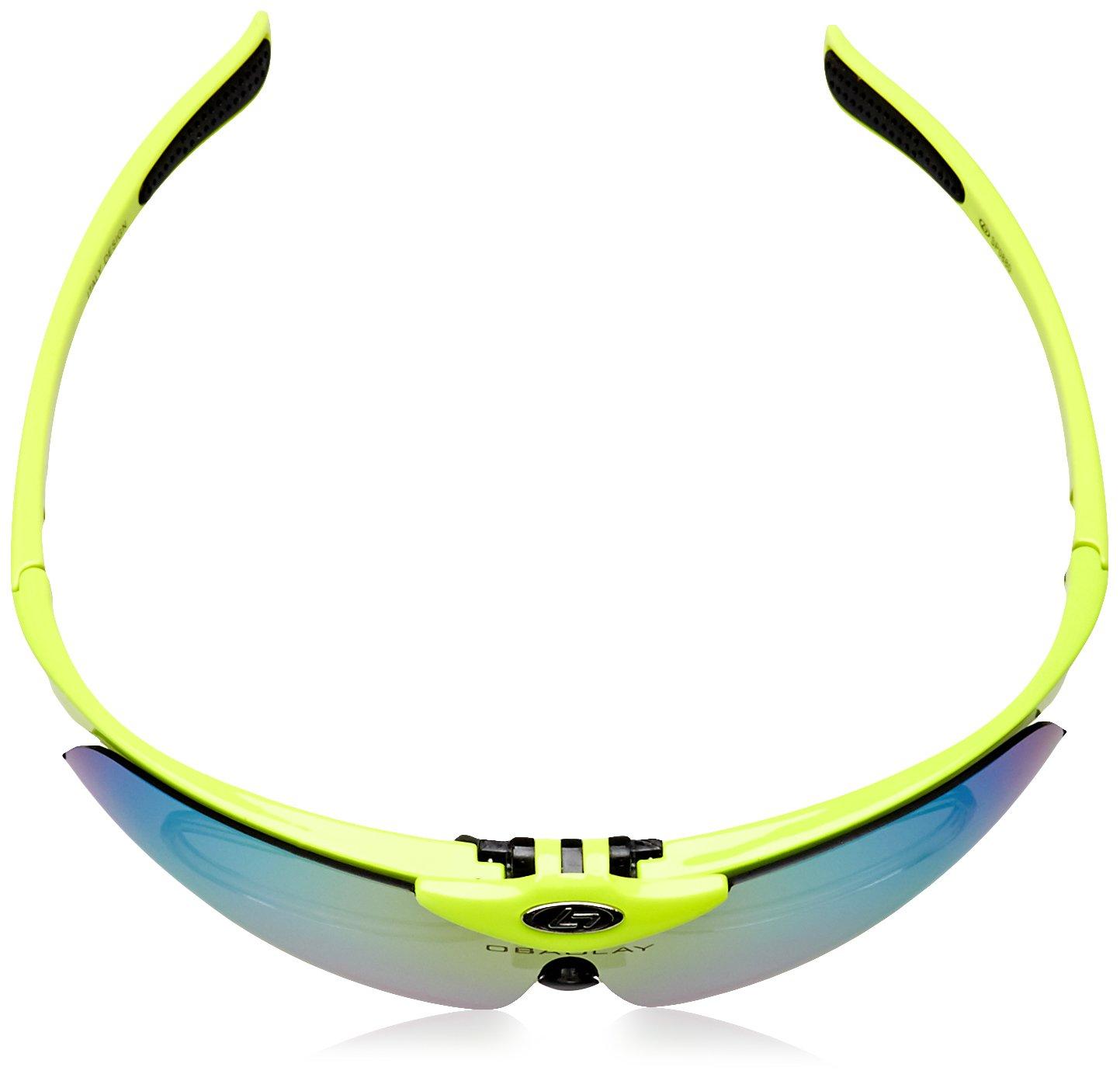 OBAOLAY Lunettes de Soleil Polarisees Anti-UV Sport Cyclisme Peche Unisexe avec 5 Verres Interchangeables