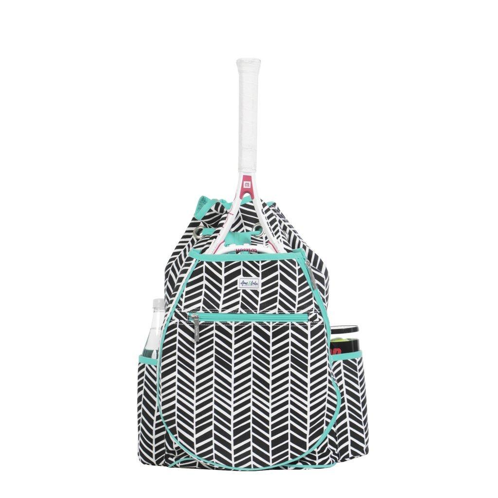 Ame & Lulu Kingsley Tennis Backpack (Black Shutters) by Ame & Lulu (Image #1)