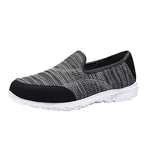 Yiiquanan Donna Traspirante Nette Knitting Scarpe Basse Anti-Slittata Fitness Sneaker Pattini Casuali (Nero,EU 35)