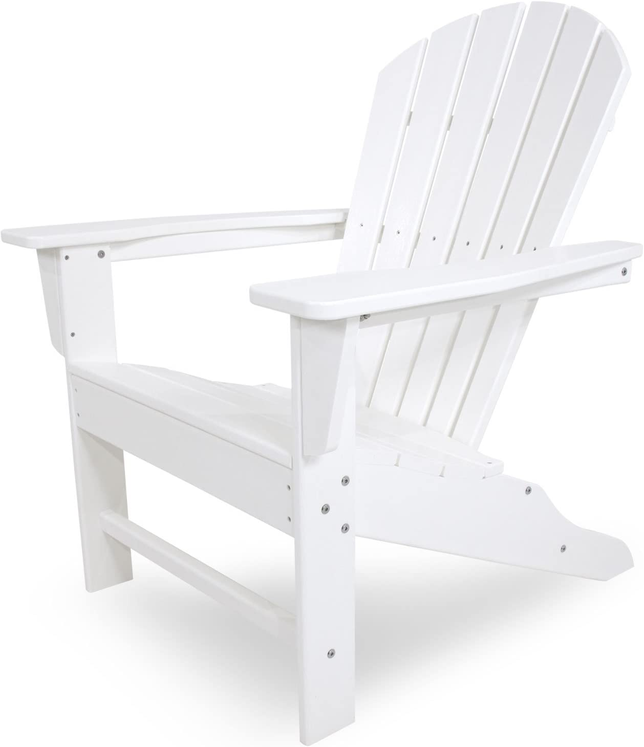 POLYWOOD SBA15WH South Beach Adirondack Chair, White