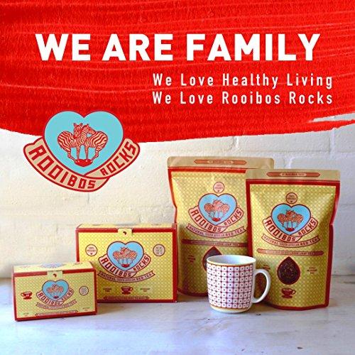 Rooibos Tea Organic Tagless Teabags - 100 South African Red Bush Herbal Tea Bags, By Rooibos Rocks (100ct) by Rooibos Rocks (Image #6)