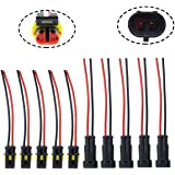 amazon com trac outdoor t10136 8 gauge trolling motor connector kit motoall 5 kits 2 pin way 16 awg waterproof connector male female socket plug pigtail