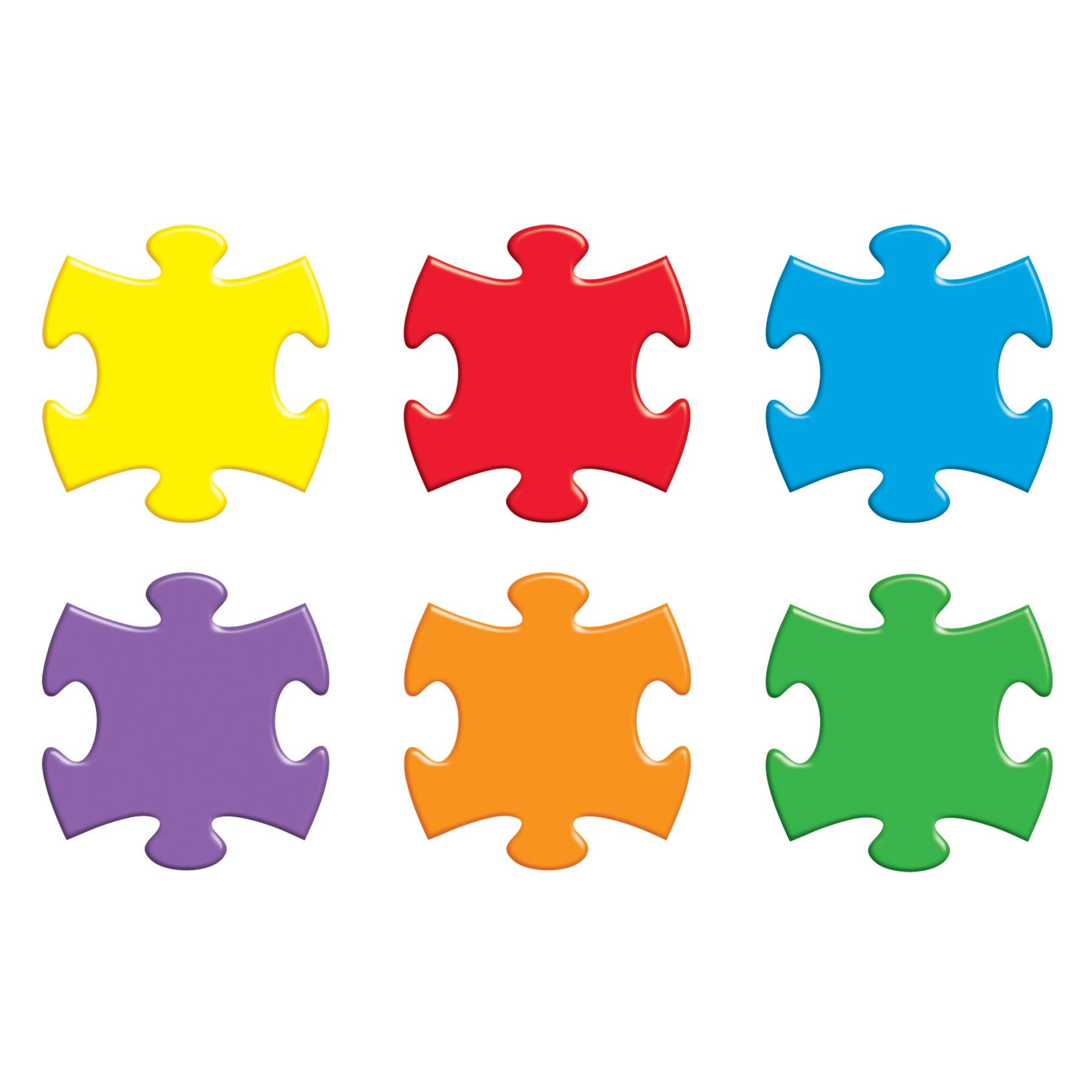 TREND enterprises, Inc. T-10906BN Puzzle Pieces Classic Accents Variety Pack, 36 Per Pack, 6 Packs by TREND Enterprises