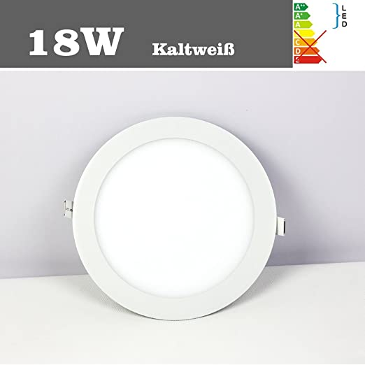 Natsen® LED Panel Light Lamp 18 W Cold White 6500 K Ultra Slim M01 ...