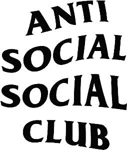 Anti Social Social Club - Vinyl 5.5 Inches (Color: Black) Decal Laptop Tablet Skateboard Car Windows Sticker