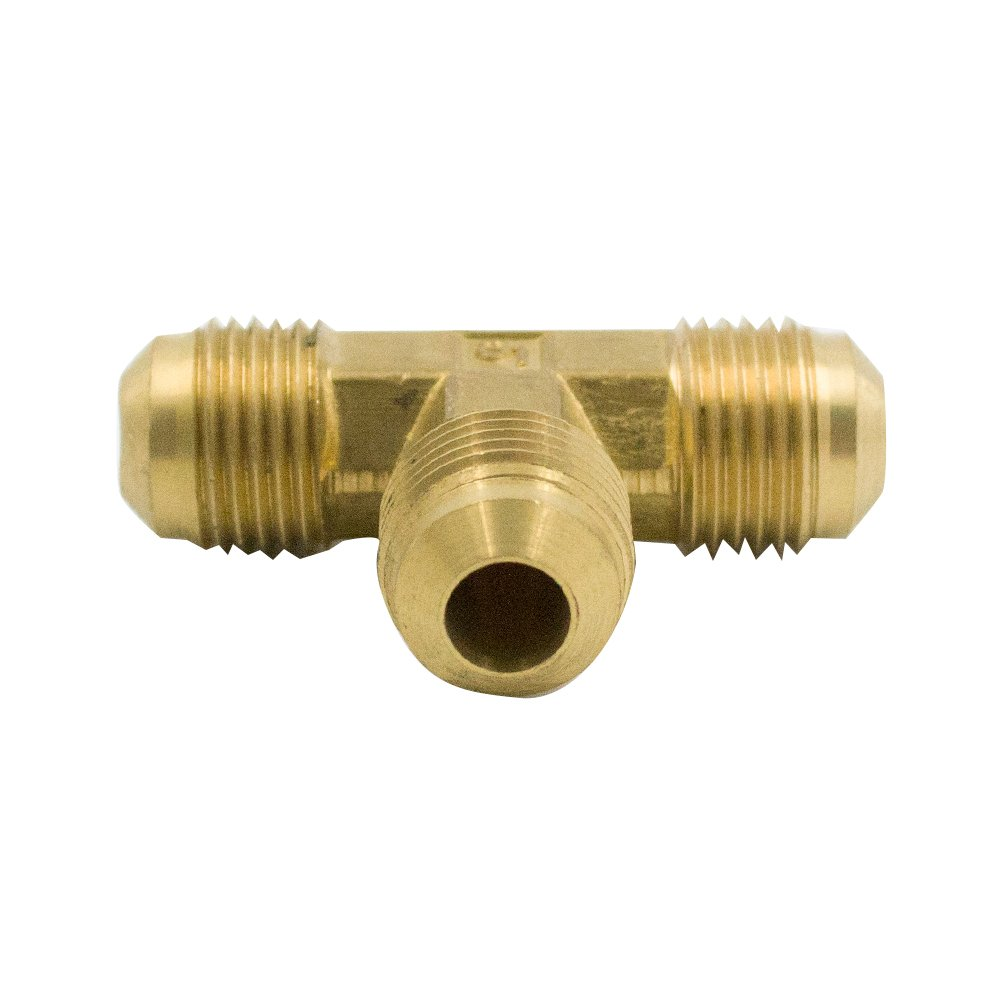 Vis Brass SAE 45 Degree Flare Tube Fitting, Flare Tee Union (200, 1/4'' x 1/4'' x 1/4'' Flare)