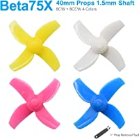 BETAFPV 16pcs 40mm 4-Blade Props 1.5mm Shaft Propellers for Beta75X 2S Brushless BNF FPV Whoop Drone 110X Motors