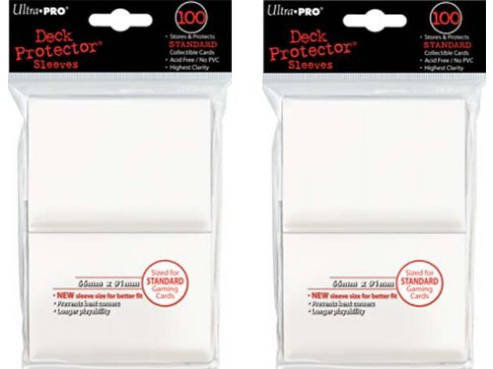 200 Ultra-Pro White Deck Protector Sleeves 2-Packs - Standard Magic the Gathering Size