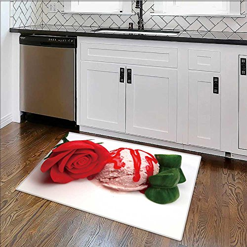 Dual Surface Non Slip Rug Pad strawberry ice cream scoop with marzipan rose for Living Room Dining Room Family W39