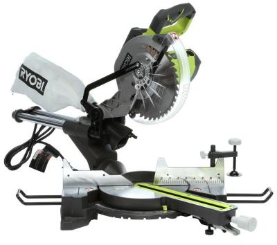 Ryobi 15-Amp 10 in. Sliding Miter Saw with Laser-TSS102L - The Home Depot