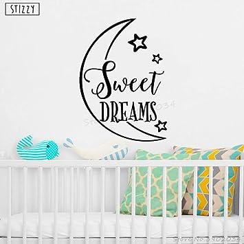 chambre Placard Mur Autocollant Art-petit Porte Sweet Dreams Enfants Crèche