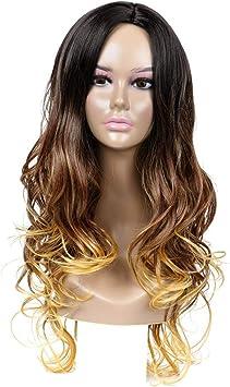 DER Burst Wig, Degradado Largo Cabello Curly Chemical Fiber ...