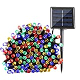 Qedertek Solar Christmas String Lights Outdoor, 200 LED 72ft Fairy Decorative Lighting for Patio, Outdoor, Home, Lawn, Garden, Wedding, Patio, Party and Holiday Decorations (Multi-color)