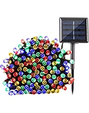 Lyhope Solar Christmas Lights Outdoor, Waterproof 72 FT 200 LED 8 Modes