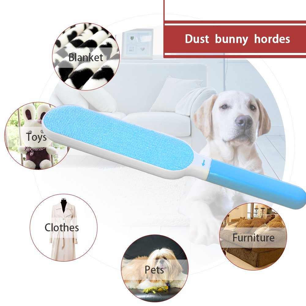 Foxmum Fur Remover with Self-cleaning Base Magic Pet Hair Lint Brush for Clothes and Furniture by Foxmum (Image #6)