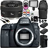 Canon EOS 6D Mark II DSLR Camera with EF 50mm f/1.4 USM Lens 13PC Accessory Bundle – Includes 32GB SD Memory Card + 2x Replacement Batteries + MORE - International Version (No Warranty)