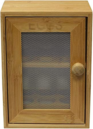 Caja de almacenamiento de huevos de madera de bambú, estante para ...