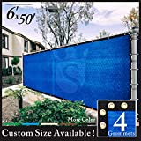 Royal Shade 6' x 50' Blue Fence Privacy Screen Windscreen Cover Netting Mesh
