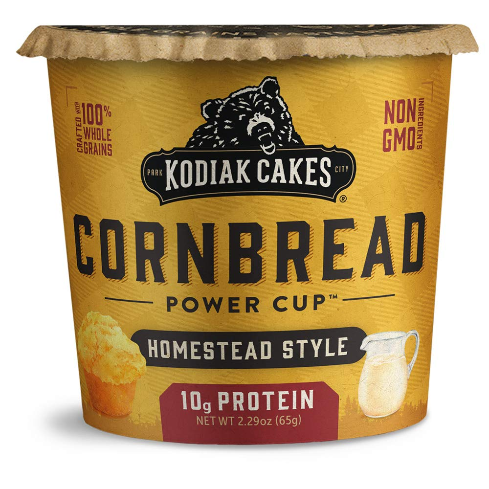 Kodiak Cakes Cornbread in a Cup, Homestead Style, 2.29 Ounce (Pack of 12) (Packaging May Vary)