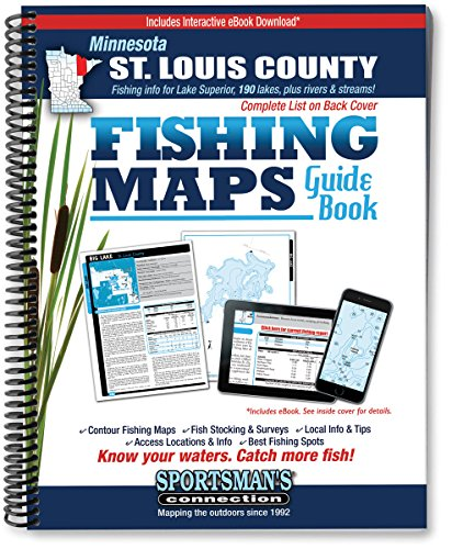 Minnesota St. Louis County Fishing Map Guide (Fishing Maps from Sportsman's Connection)
