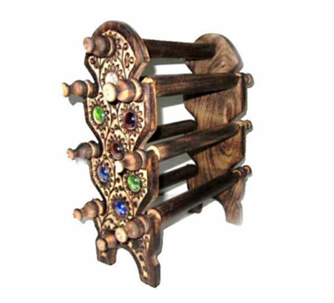 Shah Kreations Antique Wooden Bangle Stand: Amazon.in: Home & Kitchen