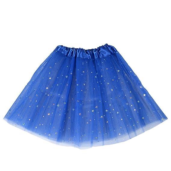 Zantec - Falda - para niña Azul azul marino Talla única: Amazon.es ...
