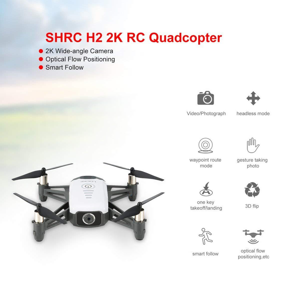 Heaviesk H2 2K WiFi FPV RC Drone Posicionamiento de Flujo óptico ...