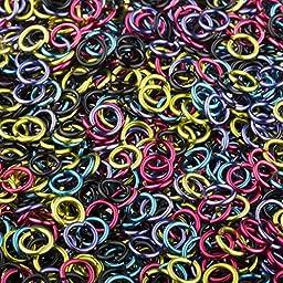 Weave Got Maille, 18-Gauge 5mm Graffiti Enameled Copper Jump Ring Mix - 1 oz