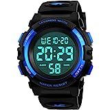Kids Watch,Boys Watch for 6-15 Year Old Boys,Digital Sport Outdoor Multifunctional Chronograph LED 50 M Waterproof Alarm…