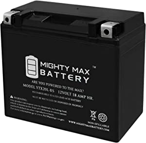 Mighty Max Battery YTX20L-BS Replacement Battery for Sears 44027, 44006 Battery Brand Product
