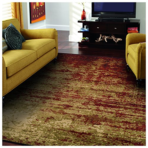 Washable Jute Rugs: Superior Modern Afton Acid Wash Collection Area Rug, 10mm