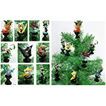POKEMON GO 10 Piece Holiday Christmas Ornament Set Featuring Various Pokemon Characters Battling on Pokemon Gyms - Shatterproof Plastic Ornaments Around 3.5 to 4 Tall by Holiday Ornaments