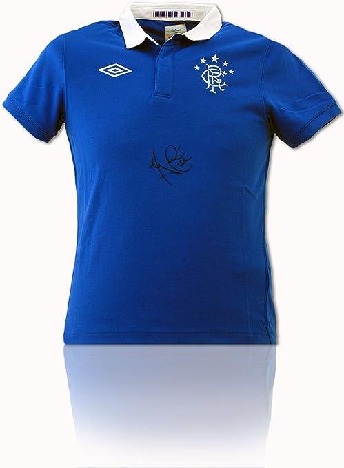 Camisa Retro BSM Glasgow Rangers firmada a Mano por Michael Mols a Prueba de Fotos AFTAL COA: Amazon.es: Deportes y aire libre