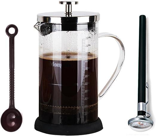 350 ml de vidrio escala Mark taza de café eléctrica filtro de cafetera prensa francesa 3 piezas Kit: Amazon.es: Hogar