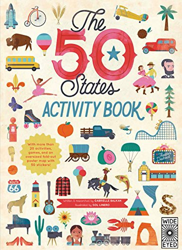 The 50 States: Activity Book: Maps of the 50 States of the - About Kids Usa For