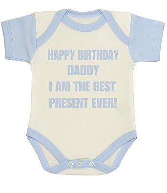 BabyPrem Baby Kleidung Body Strampelanzuge Happy Birthday Daddy Best Present Ever 50 56cm