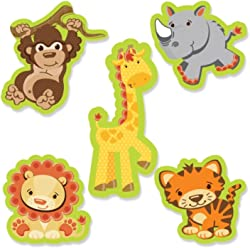 Big Dot of Happiness Funfari - Fun Safari Jungle - DIY Shaped Baby Shower or Birthday Party Cut-Outs - 24 Count