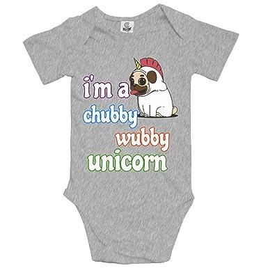 2929e4816c88 Im A Chubby Wubby Unicorn Pug Baby Unisex Toddler Bodysuit Summer ...