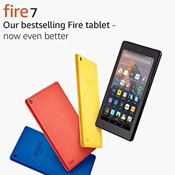 Fire 7 Tablet, 16 GB, Black—with Special Offers (Previous Generation - 7th)