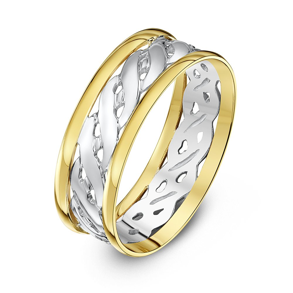 Theia Unisex Highly Polished Court Shape Celtic 9 ct Gold Wedding Ring Berker Bros Ltd T5FW-7 09WY1