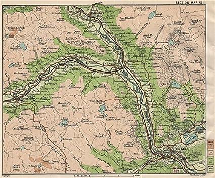 Pitlochry Scotland Map.Amazon Com Tay River Valley Forest Pitlochry Dunkeld Aberfeldy