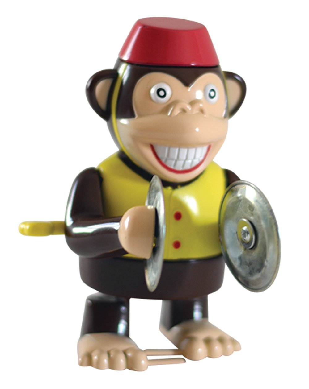 Wind Up Cymbal Monkey Toy - Windup Monkey Marching and Playing Cymbals - Toys for Toddlers Kids Children Boys Girls - Classic Wind-up Surprising Happy Clapping Monkey 4'' Tall Walks Plays Cymbals